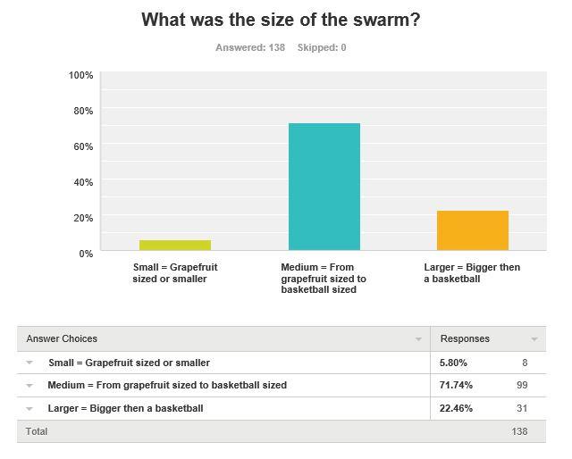 swarm size